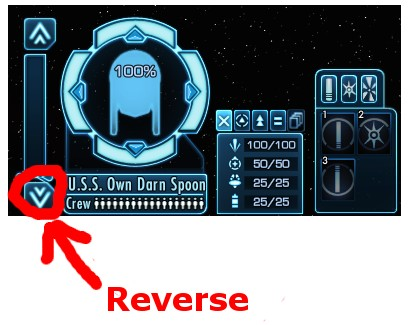 The reverse button in Star Trek Online