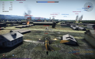 Strafing a tank