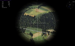 Lining up a target in the bombsight