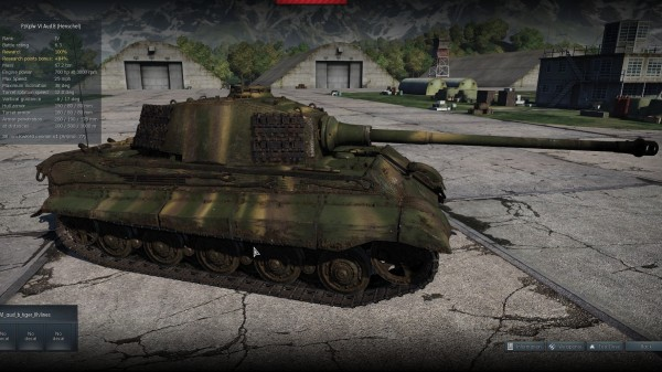 Tiger II in the garage