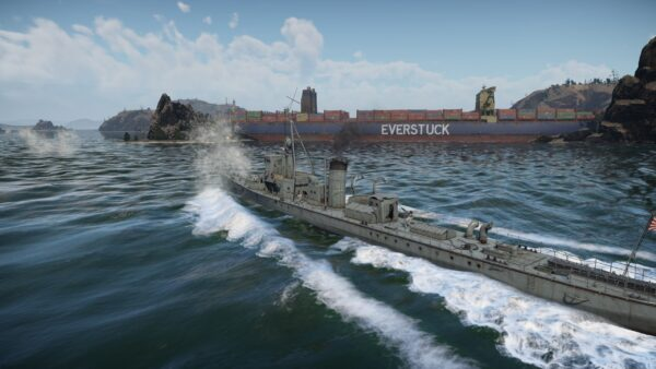 The Everstuck Container Ship